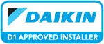 Daikin D1 Approved Logo 150